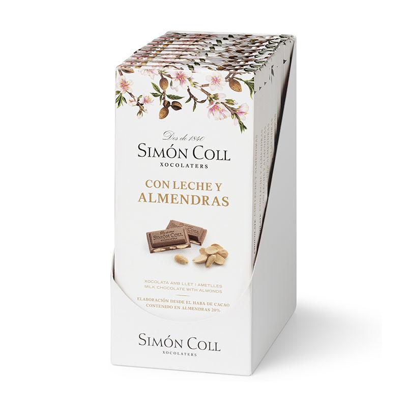 Mleczna czekolada z migdałami