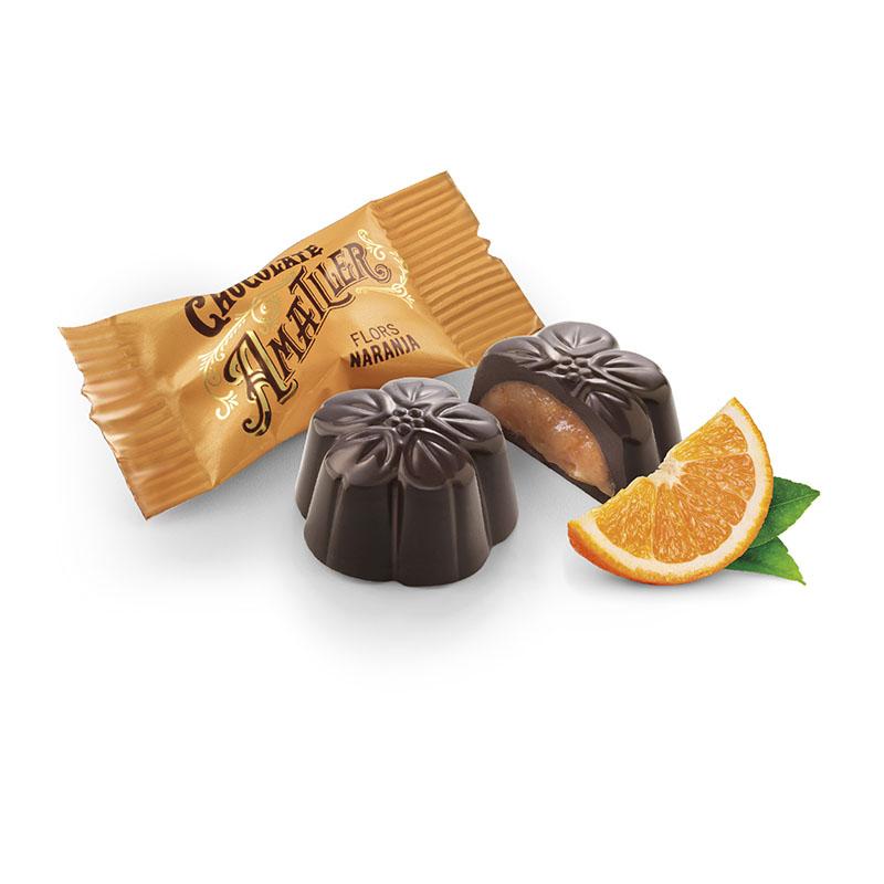 Czekoladki z nadzieniem pomarańczowym